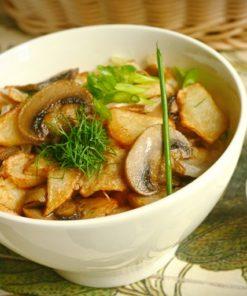 Жареная картошка по-домашнему с грибами