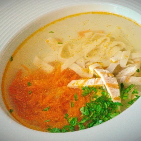Суп-лапша с ароматными сухариками