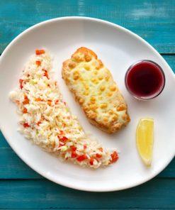 лосось под сыром