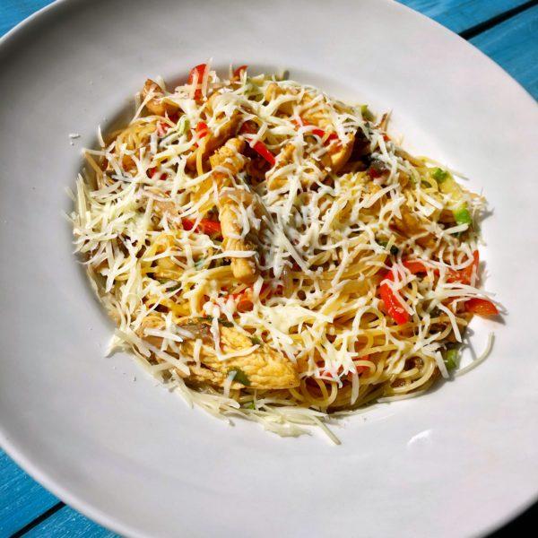 спагетти WOK c телятиной